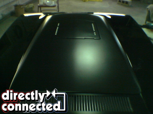 Organosol painting factory black hood matte