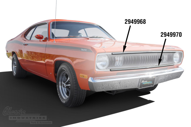 Classic Industries - 1970-72 Plymouth Grill Moldings (High  Res)