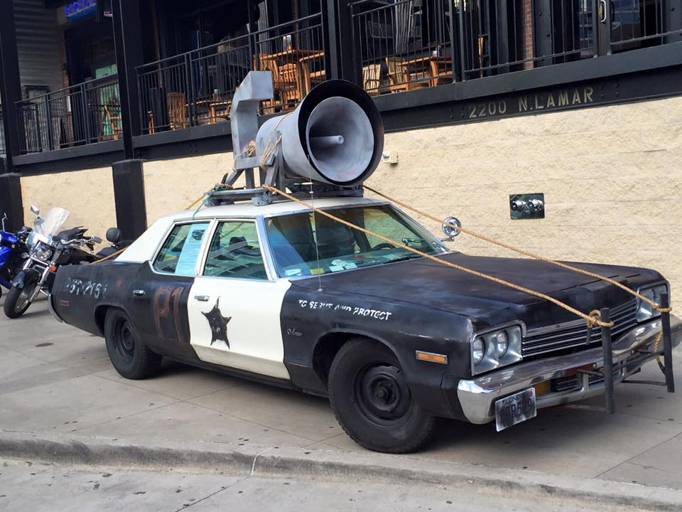 Bluesmobile_at_House_of_Blues_Dallas_-_3-4_view