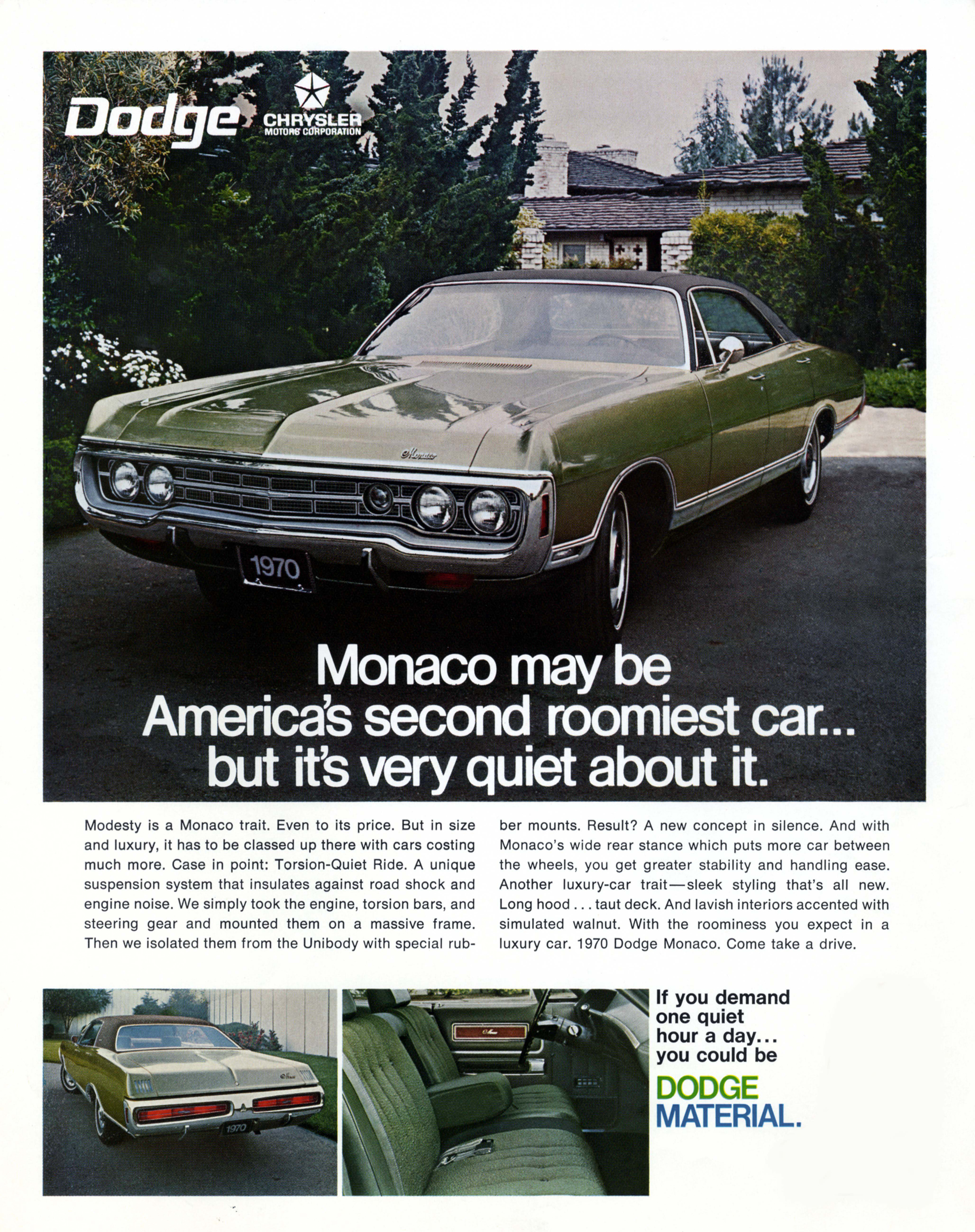 1970 Dodge Monaco advertisement