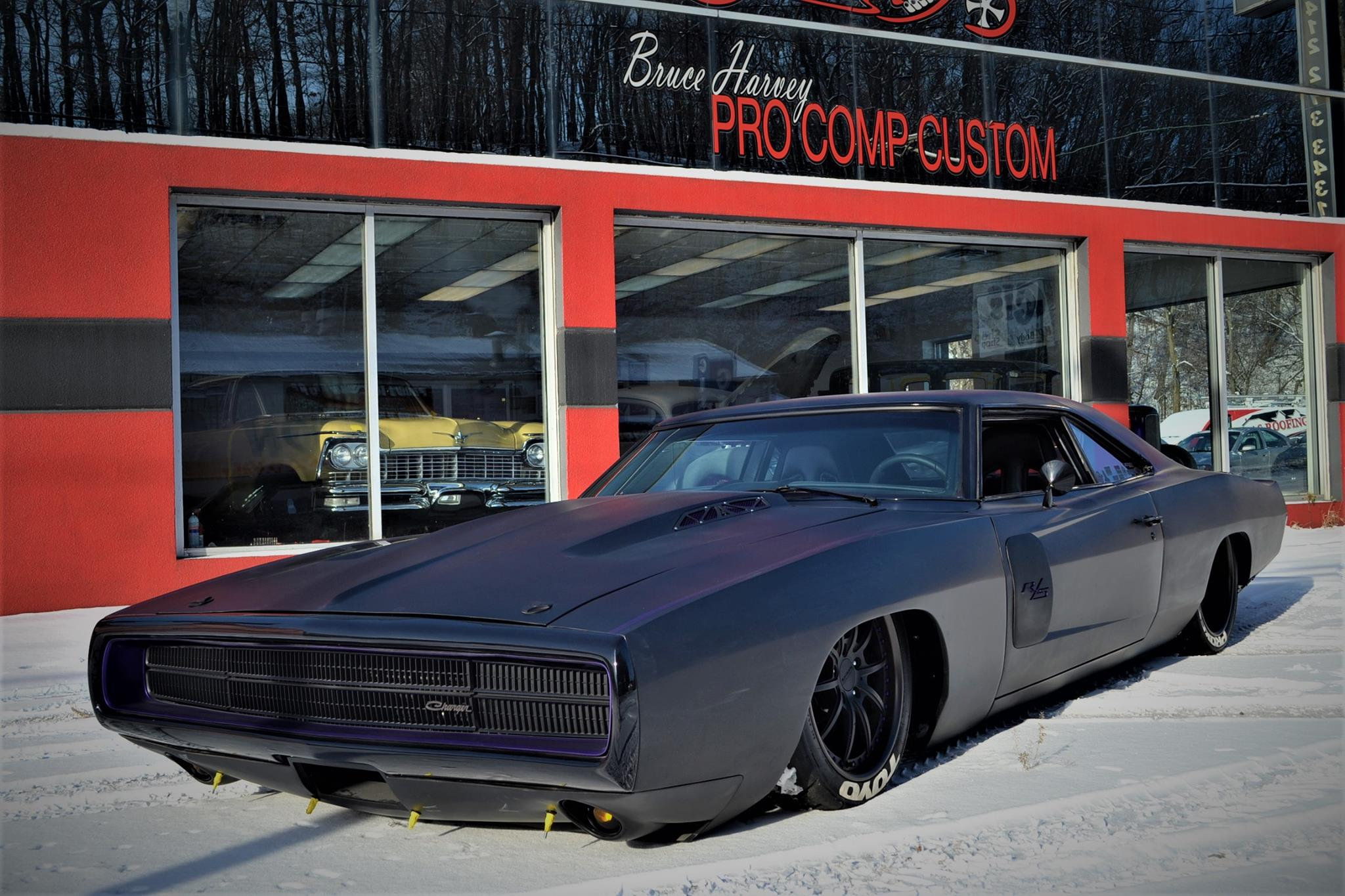 pro comp customs' low-slung 1970 dodge charger 500mopar connection