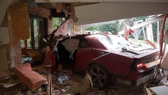 16 Year Old Steals Parent S Dodge Challenger And Crashes Into House
