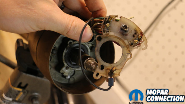 Switched on mopar steering column restoration turn signal switch above the factory turn signal switch or cam not only controls the turn signal indicators but also is a relay point for your mopars brake lights publicscrutiny Images