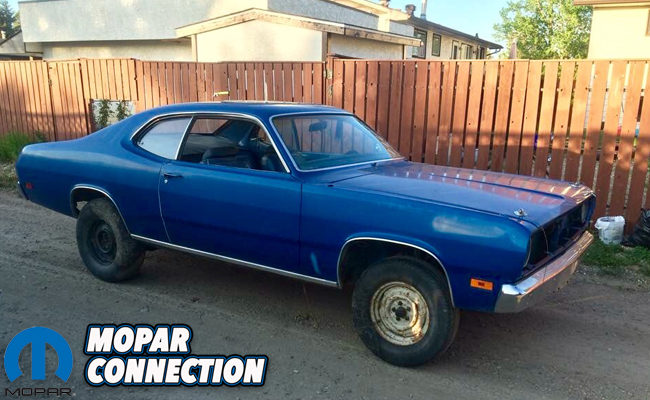 finders keepers miguel loubier s 1971 plymouth duster 340 mopar rh moparconnectionmagazine com plymouth duster 4 speed transmission plymouth duster transmission mount