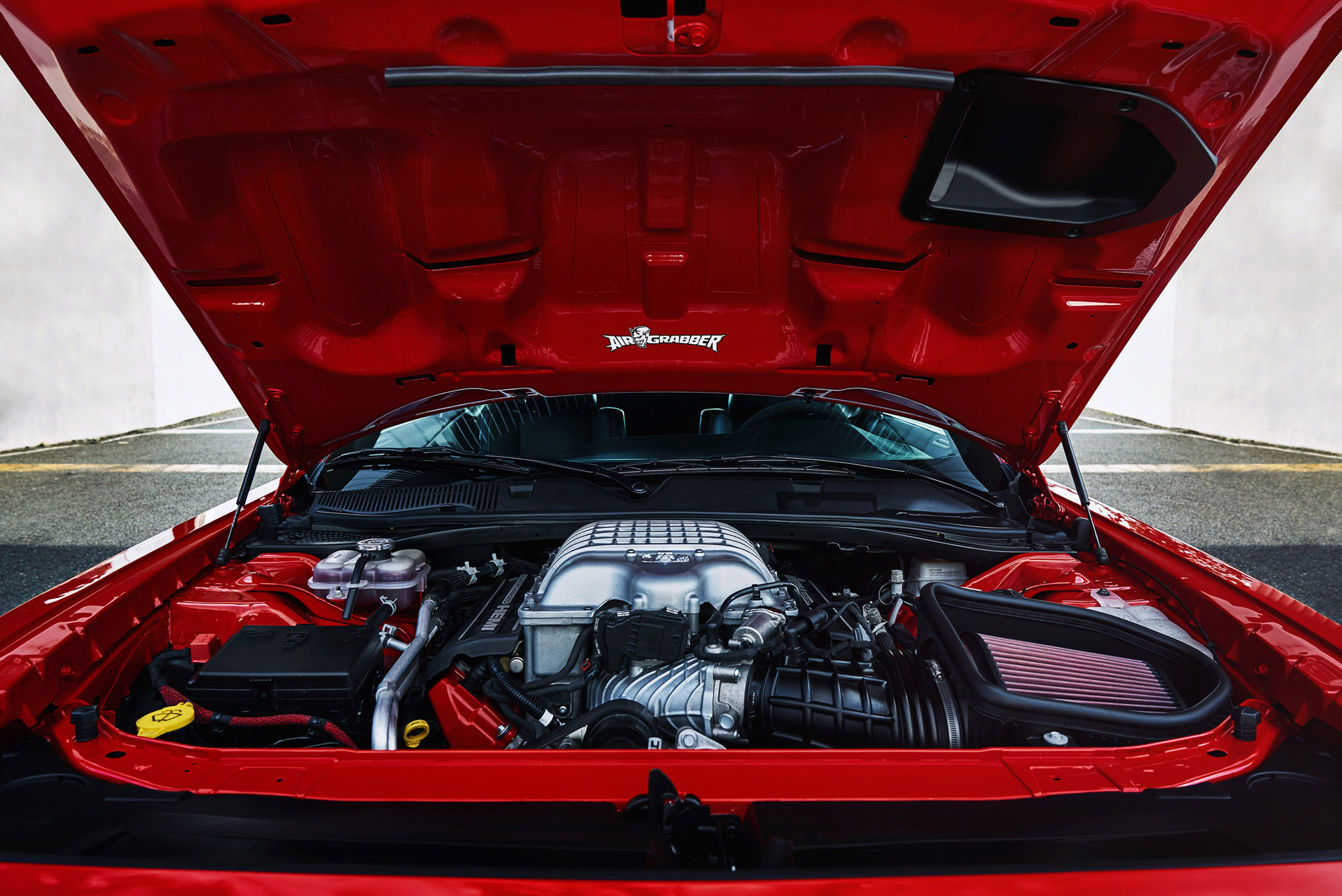 The 2018 Dodge Challenger SRT Demonâs 6.2-liter Supercharged en
