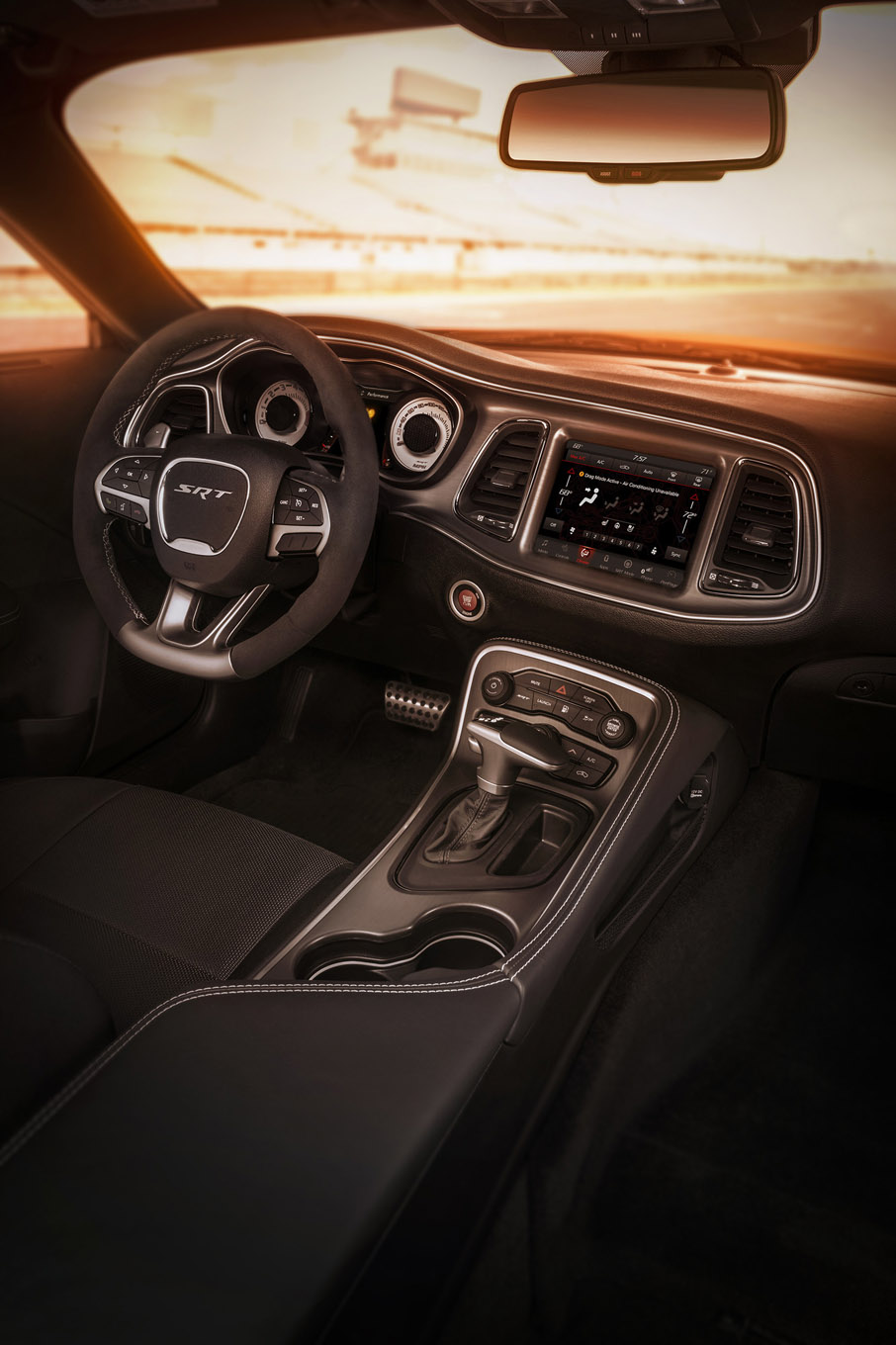 Interior of the 2018 Dodge Challenger SRT Demon