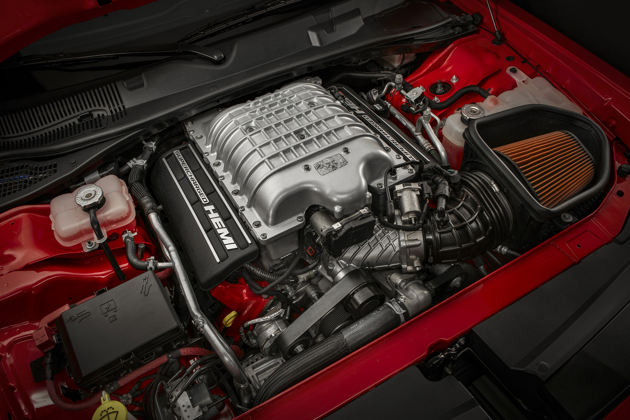 Under the hood of the 2018 Dodge Challenger SRT Demon is a Super