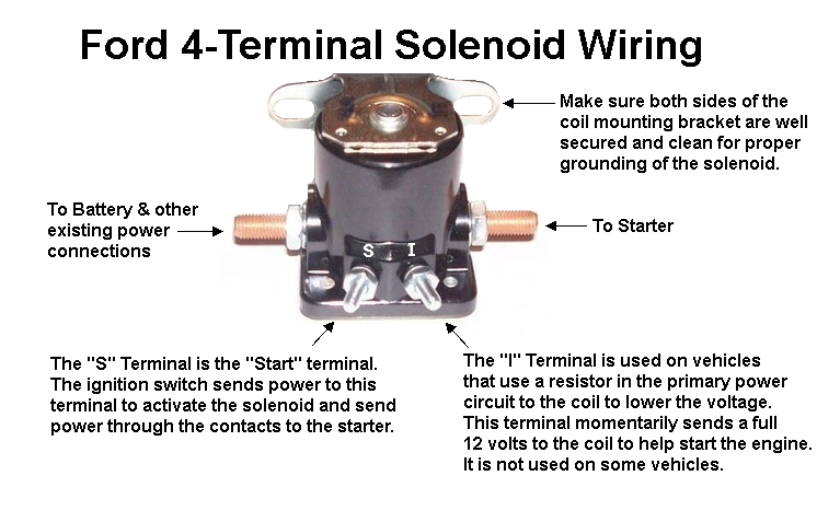 three post starter switch wiring diagram 1990 ford ford 4-terminal solenoid wiring | mopar connection ...