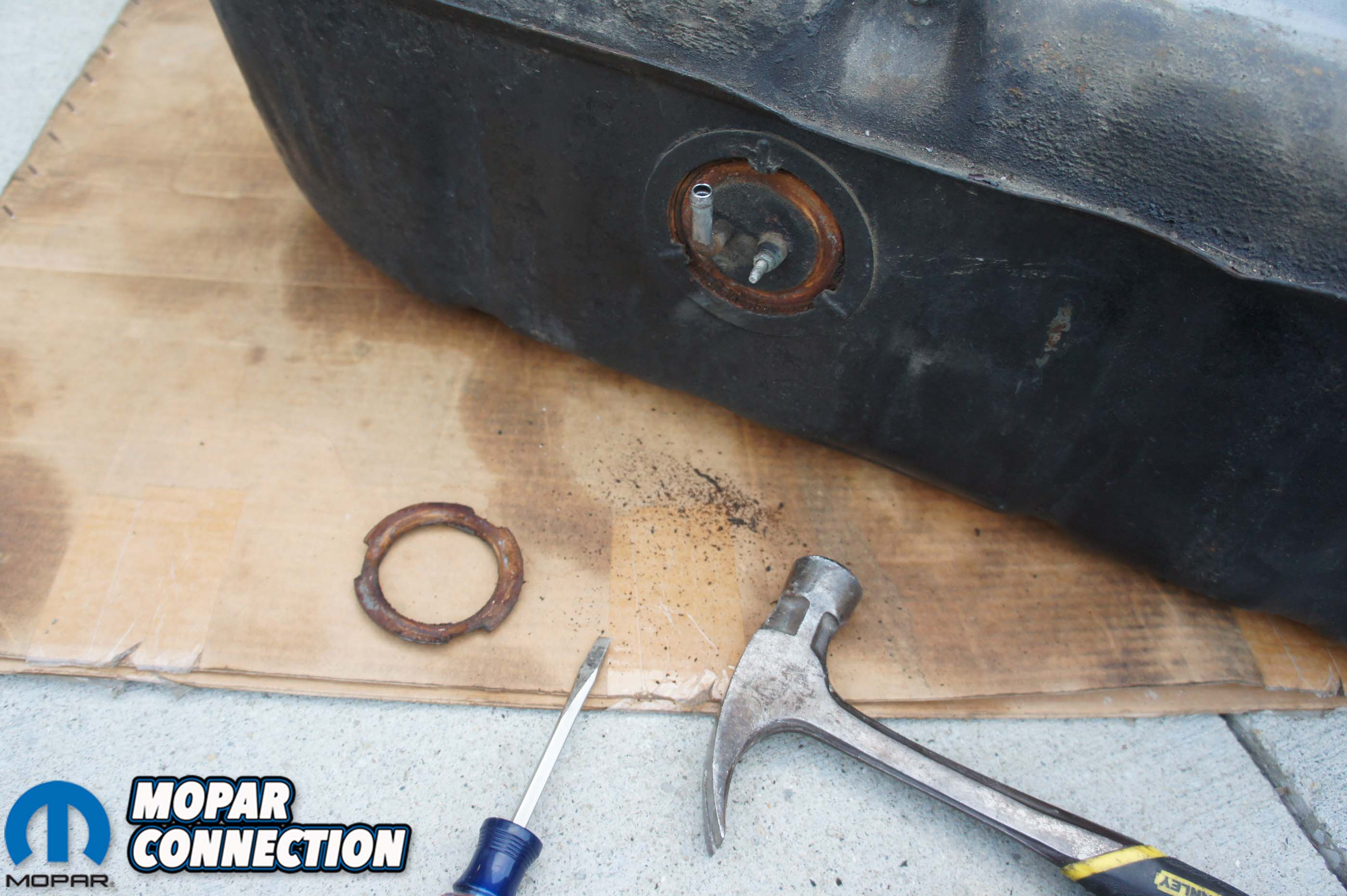 Overfull: Installing Classic Industries Fuel Tank Sending Unit in