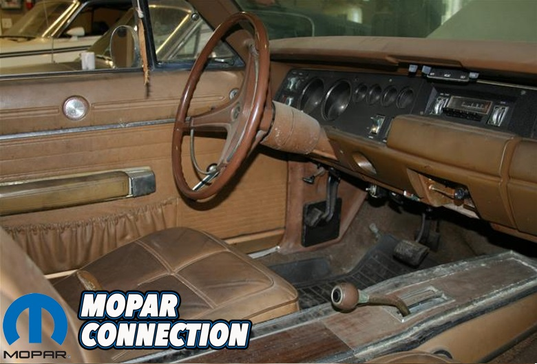 The original interior was dirty but in good shape!