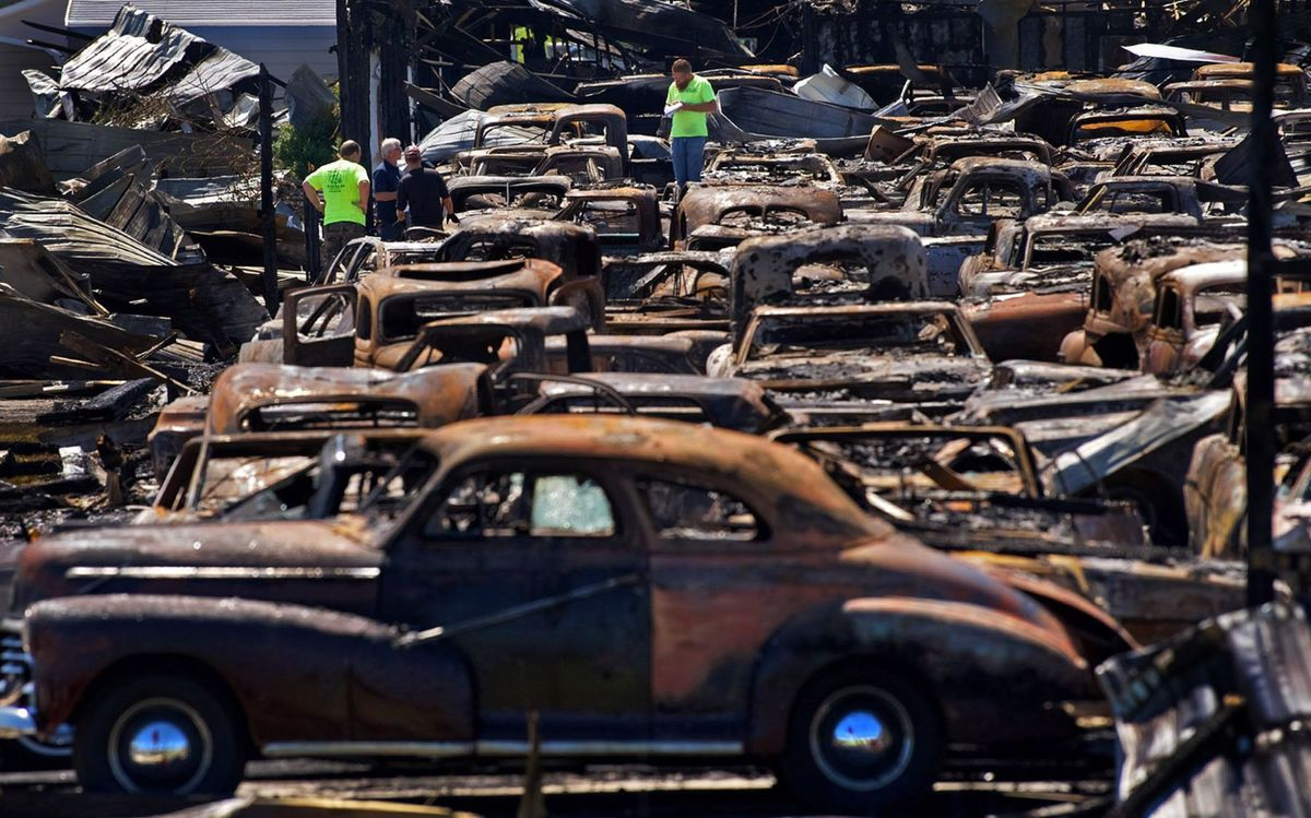 Classic Car Warehouse Burns Down