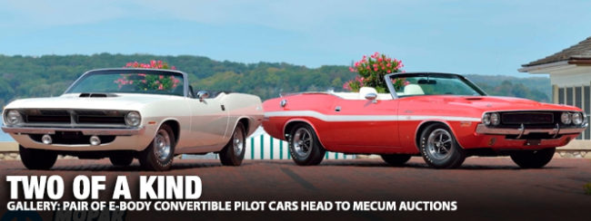 Two Of A Kind Pair Of E Body Convertible Pilot Cars Head To Mecum
