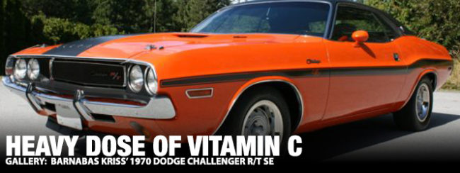 Heavy Dose Of Vitamin C Barnabas Kriss 1970 Dodge Challenger R T