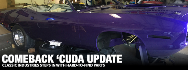 Comeback Cuda Update: Classic Industries Steps In With Hard-To-Find