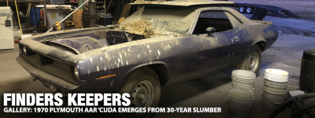 Finders Keepers: 1970 Plymouth AAR 'Cuda Emerges From 30-Year