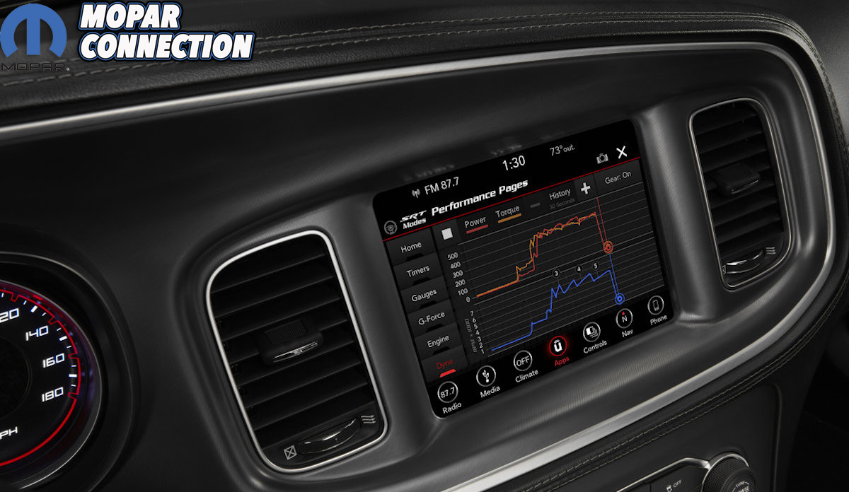 SRT Performance Pages bring critical vehicle performance data to
